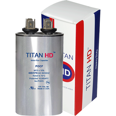 7.5/440 OVAL RUN CAPACITOR TITAN HD